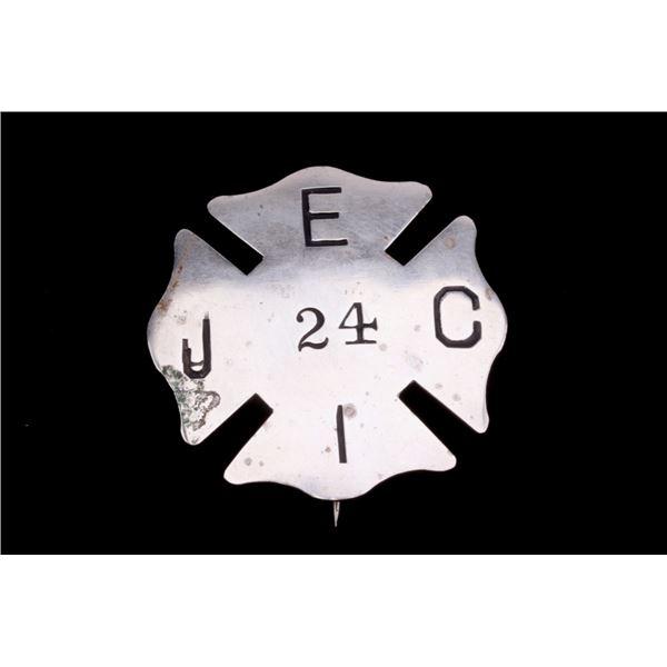 Firefighters Maltese Cross Badge Ladder 24