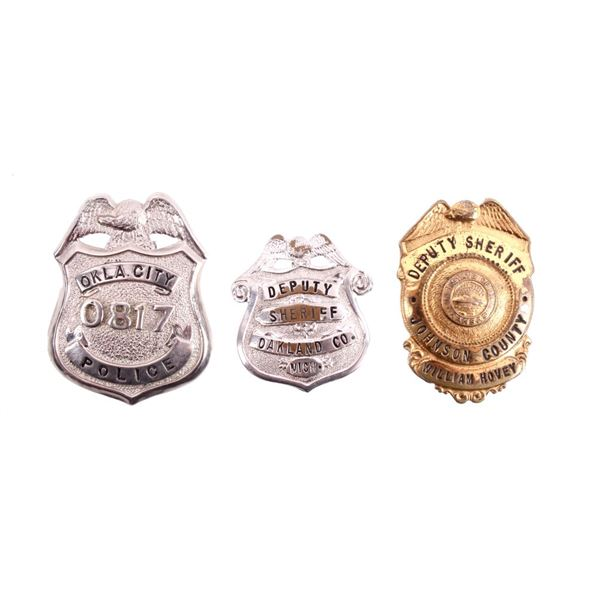 Deputy Sheriff & Police Wallet Badge Collection