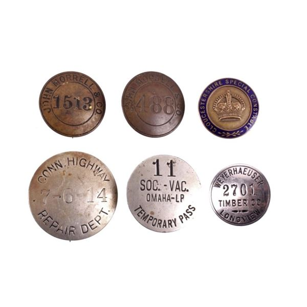 Variety of Obsolete Badge Collection c Early 1900s