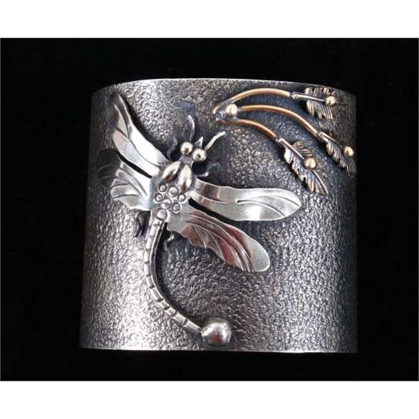 Armand American Horse Dragonfly Silver Bracelet