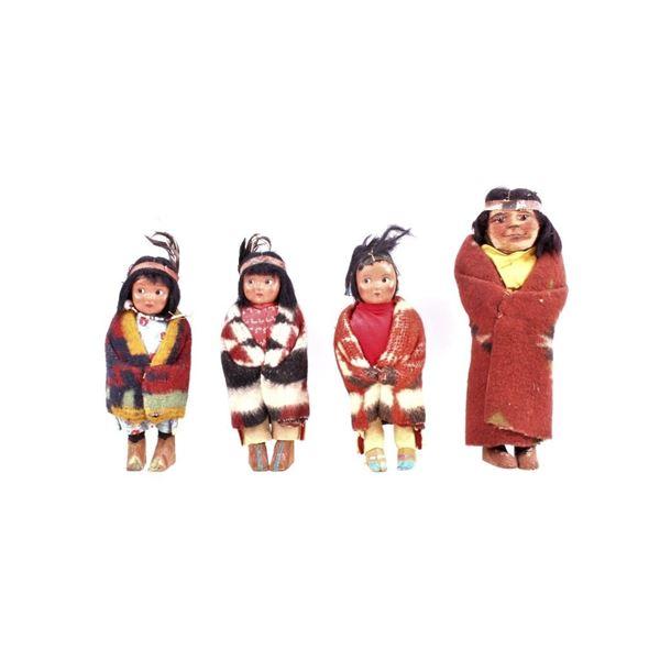 Collection of Children's Skookum Doll c. 1920s-30s