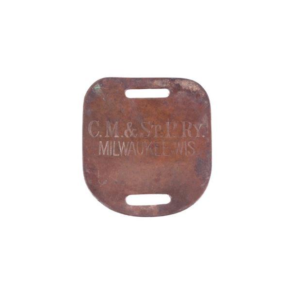 Milwaukee, Wisconsin C.M. & St. Paul Railway Badge