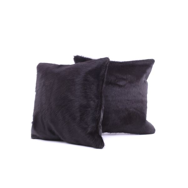 Natural Black Angus Cowhide Premium Two Pillows