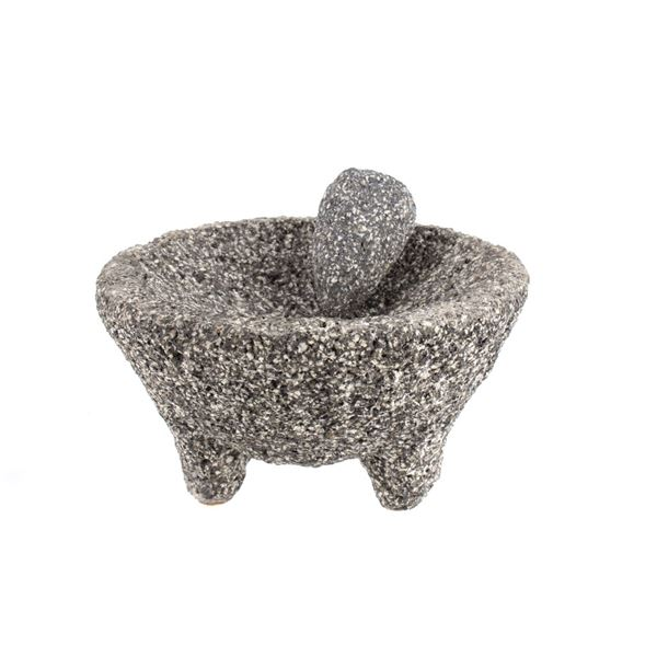 Pre Colombian Granite Stone Ground Mortar & Pestle