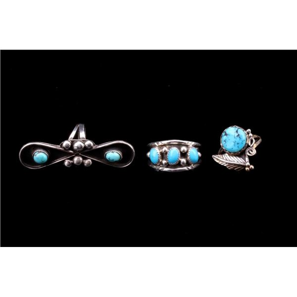 Navajo Sterling Silver Turquoise Ring Collection