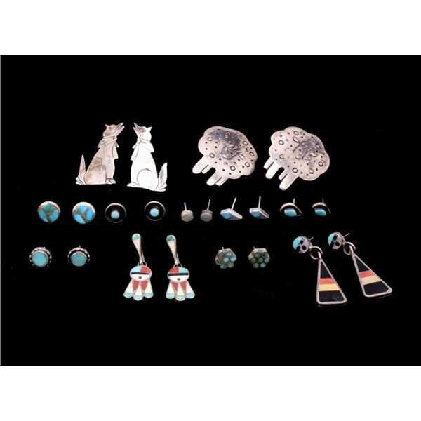 Navajo Sterling Silver Earring Collection