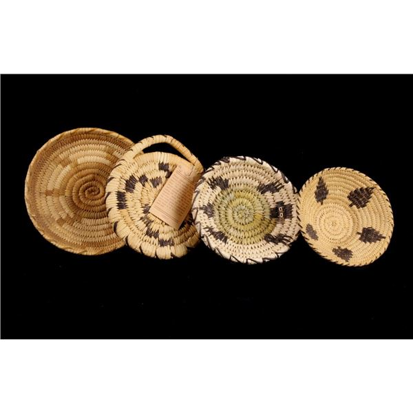 Collection of Four Papago Indian Woven Baskets