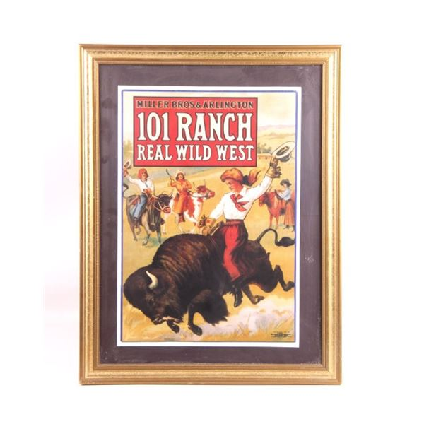 101 Ranch Wild West Show Cowgirl Poster Framed