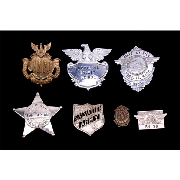 Collection of Variety Community Service Badges