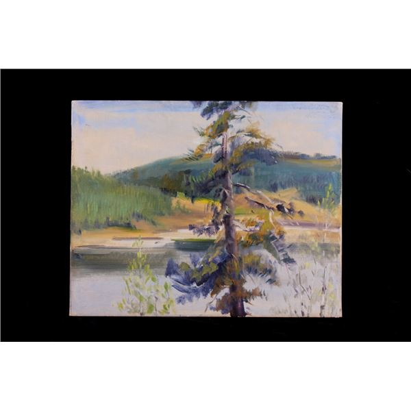 Original Carl Tolpo Ten Sleep Lake Oil Painting