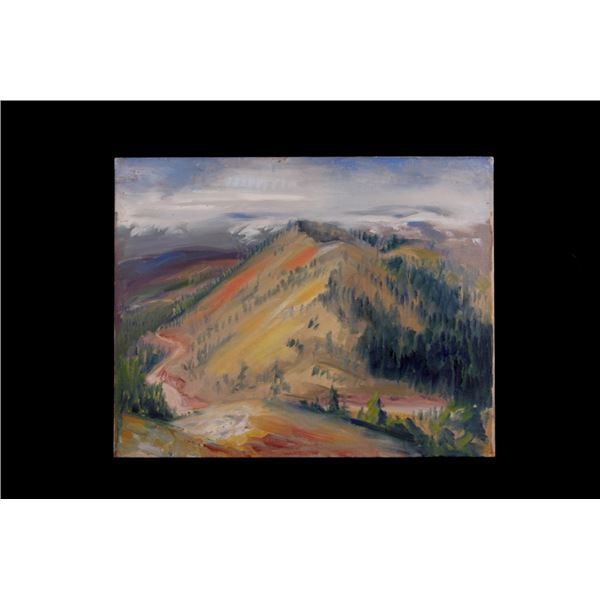 Original Carl Tolpo Monarch Pass Oil Painting 1939