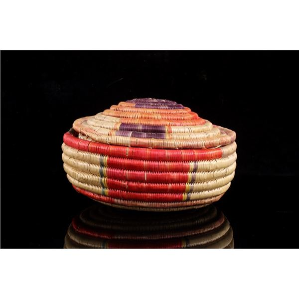 Pomo Indians Hand Woven Basket c. 1950's