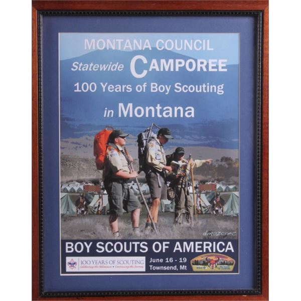 Montana 100 Years of Boy Scouting Camporee Poster