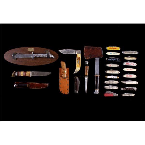 Assorted Fixed Blade/ Folding Knives & Hatchet