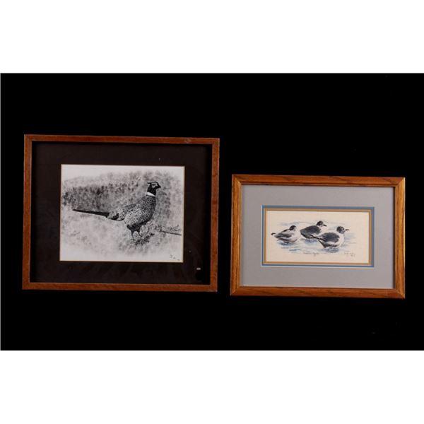 Framed Upland & Waterfowl Theme Artwork c. 1980s