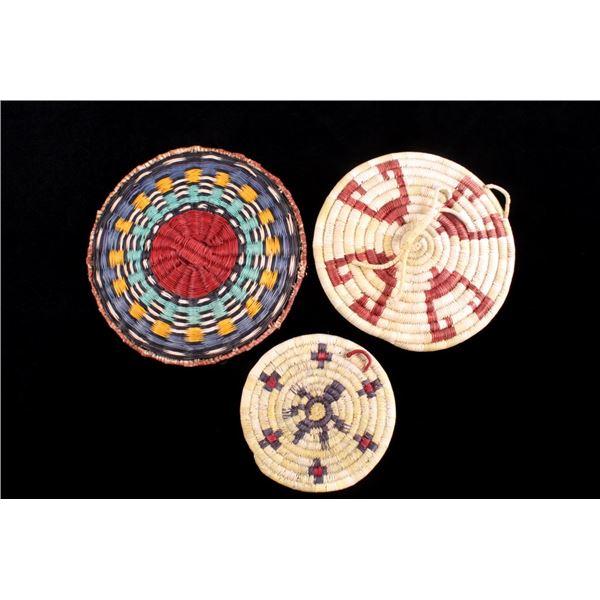 Hopi Indian Coil Plaque Wedding Basket Collection