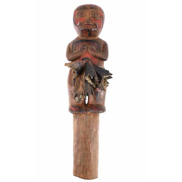 "Late 1800's ""KwaKwa Ka Wakw"" Pot Latch Figure"