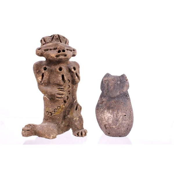 Pre-Columbian Mayan Owl & Anthropomorphic Effigies