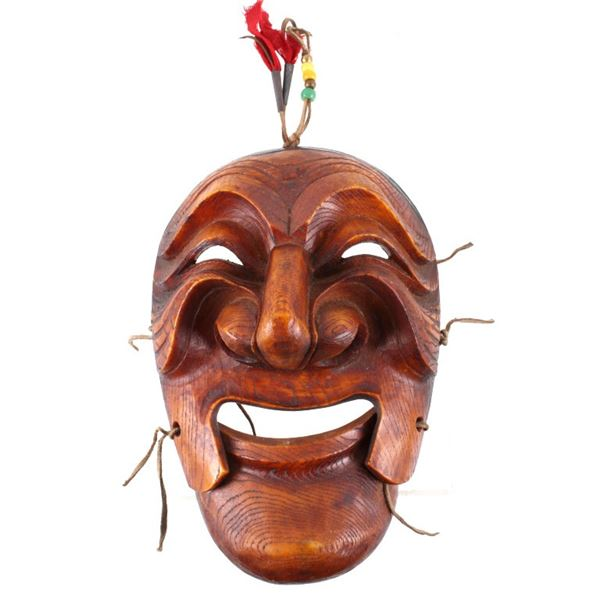 North American Indian Resin Wood Decorative Mask