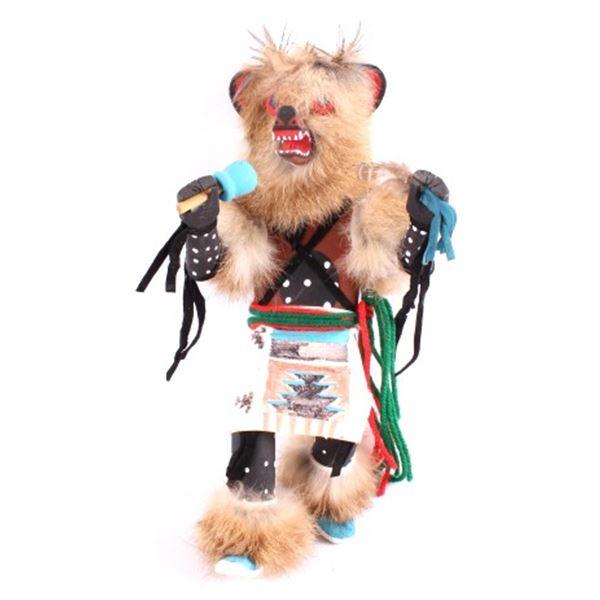 Hopi Warrior Dancer With Wolf Headdress Doll