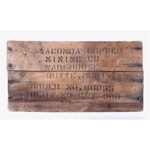 Anaconda Copper Mining Co. Small Wooden Crate