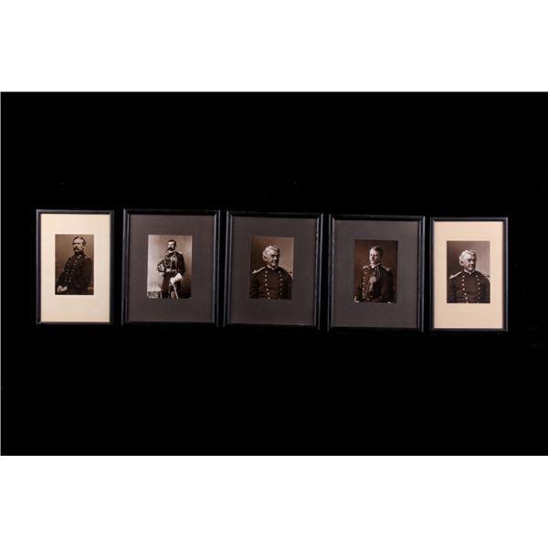 Framed Civil War Officer Photograph Collection