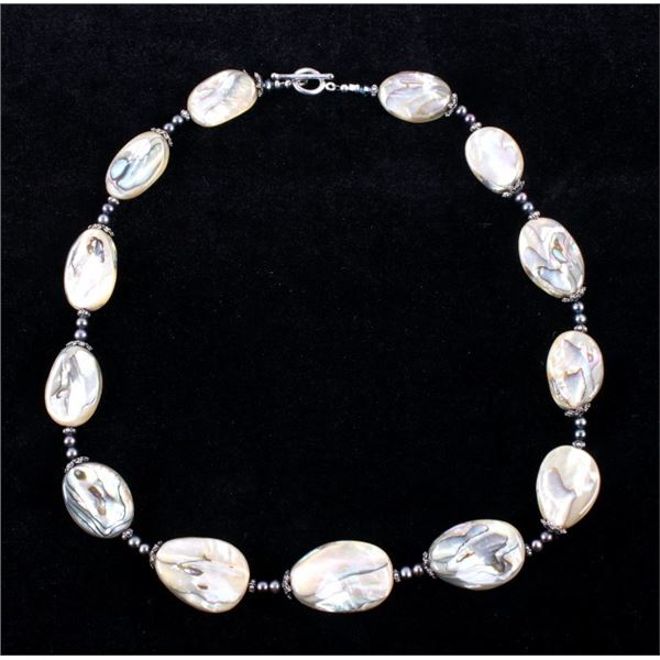 Sterling Silver Abalone Shell Necklace