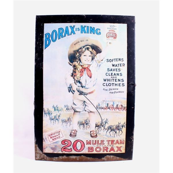 Borax is King 20 Mule Team Soap Tin Sign