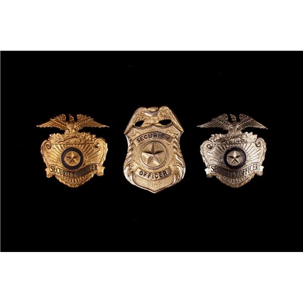 Collection of Brass Security Badges c. early 1900s
