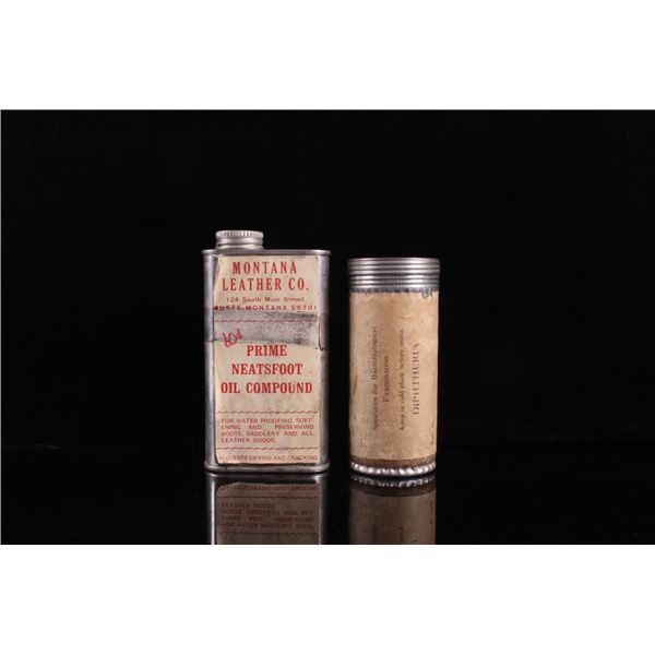 Montana Leather Co. & State Board Sample Tins