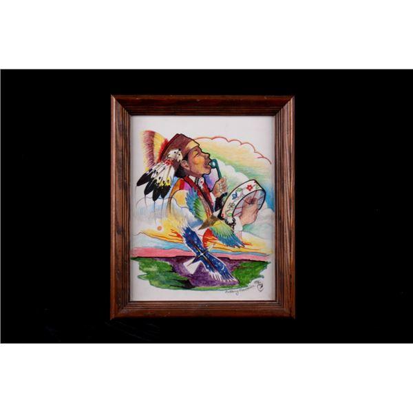 1996 Menominee Artist  Anthony Gauthier Painting