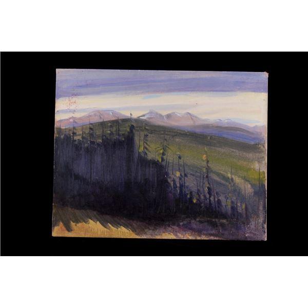 Original Carl Tolpo Big Horn Mtn. Oil Painting