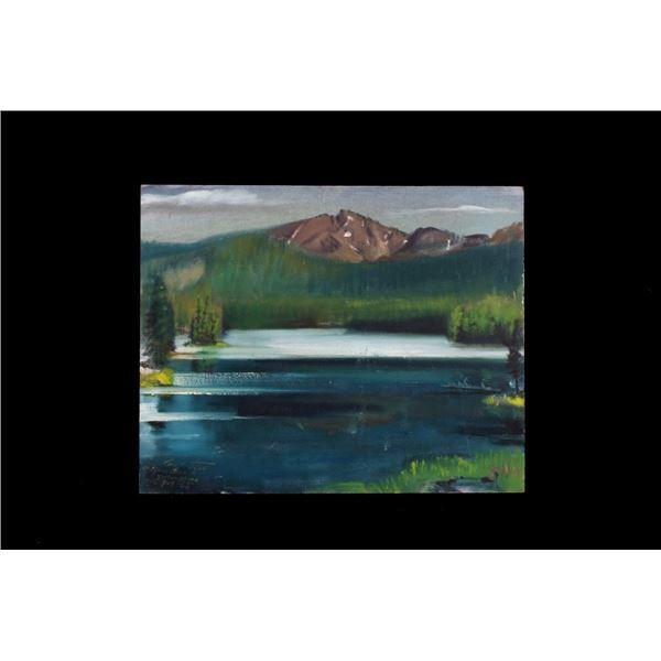 Original Carl Tolpo Sylvan Lake Oil Painting 1965