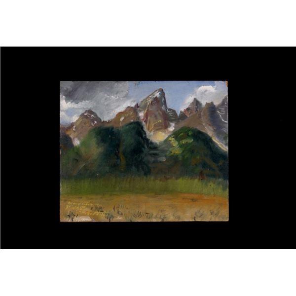 Original Signed Carl Tolpo Grand Teton Range 1965