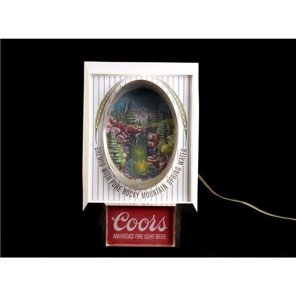 Vintage Coors Waterfall Motion Beer Sign C.1960