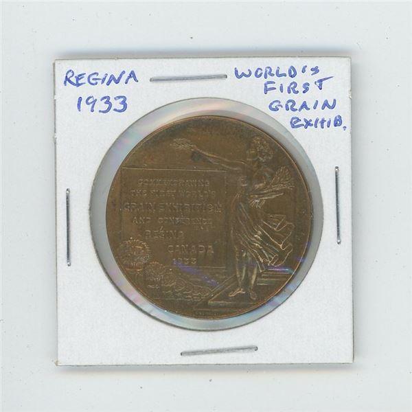 Regina 1933 World's First Grain Exhibition medal. Nice.