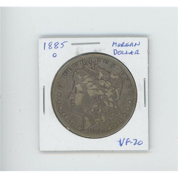 US, 1885O Morgan Dollar. New Orleans Mint. VF-20.