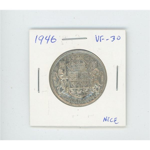 1946 Silver 50 Cents. VF-30. Nice.