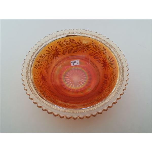 """Carnival Glass bowl, 7 ¾"""", """"Star Spray"""", Imperial Glass"""