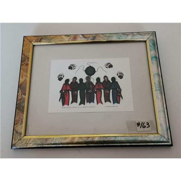 "Framed print by Simone McCleod, 2005, ""Building Capacity in Community"""