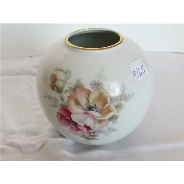 """Porcelain Chimney bowl, floral décor, made in Germany, 5"""" high"""