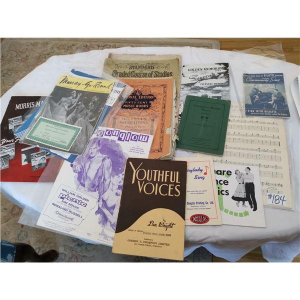 Lot of music books