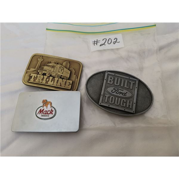 Belt buckles, Truck related, Ford/Tri-Line/Mack