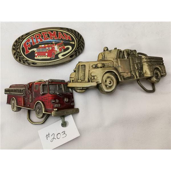 Belt buckles, Firefighter related (3)