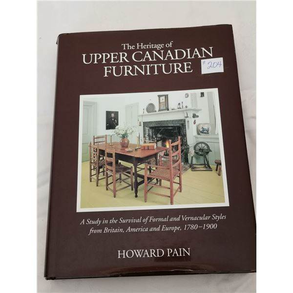 Resource Book, The Heritage of Upper Canada Furniture, 1700-1900, 548 pages