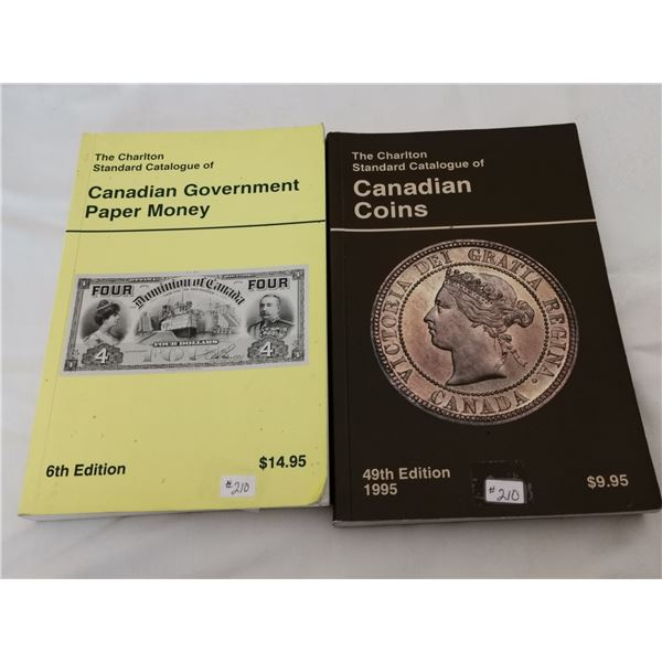 Catalogues on Canadian Coin and Paper Money, and Canadian Government Paper Money