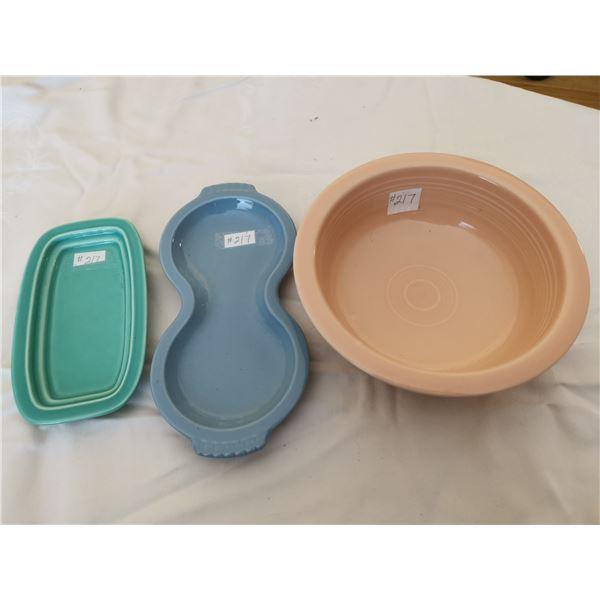 Fiesta ware, 3 pieces