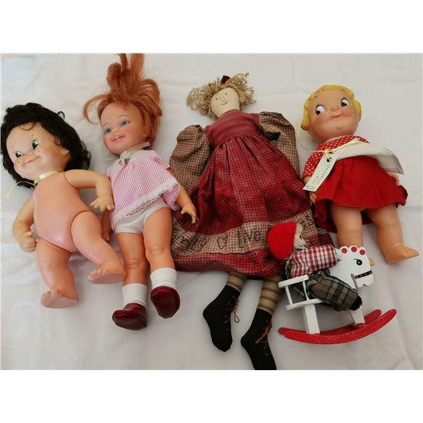 Lot of dolls (5), Regal, Campbell kids, rag