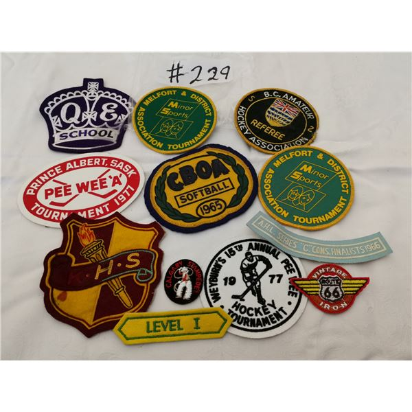 Lot of sports patches and badges