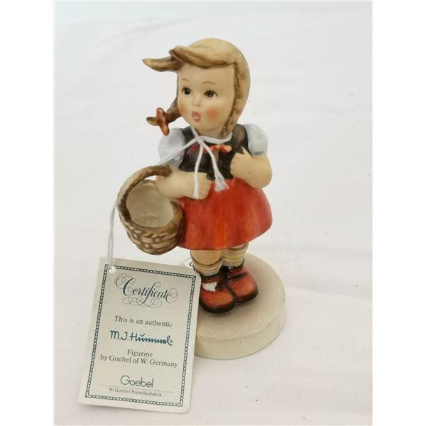 "Hummel Figurine, ""Little Shopper"" with original tag"